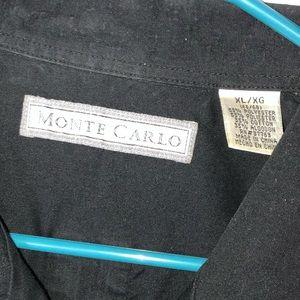 Monte Carlo Shirts - Monte Carlo Black Button Up Shirt Size XL